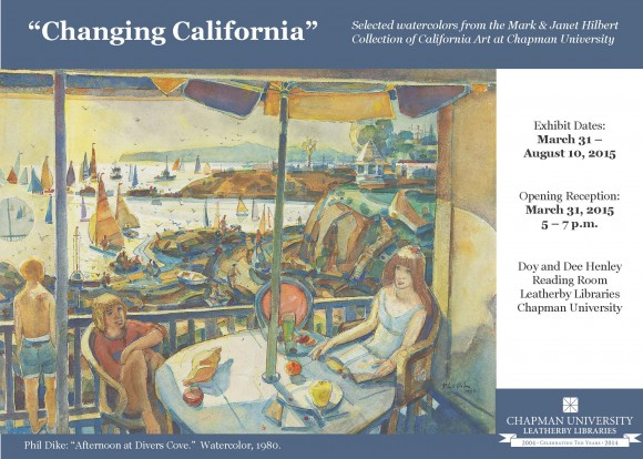 changing california postcard, piece of artwork