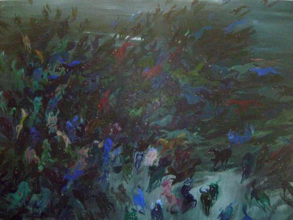 "Alison Schulnik, ""Night Horses"""