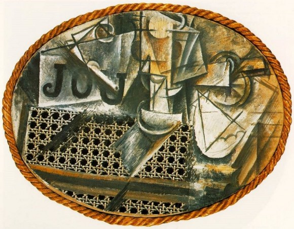 """Pablo Picasso, """"Still Life with Chair Caning,"""""""