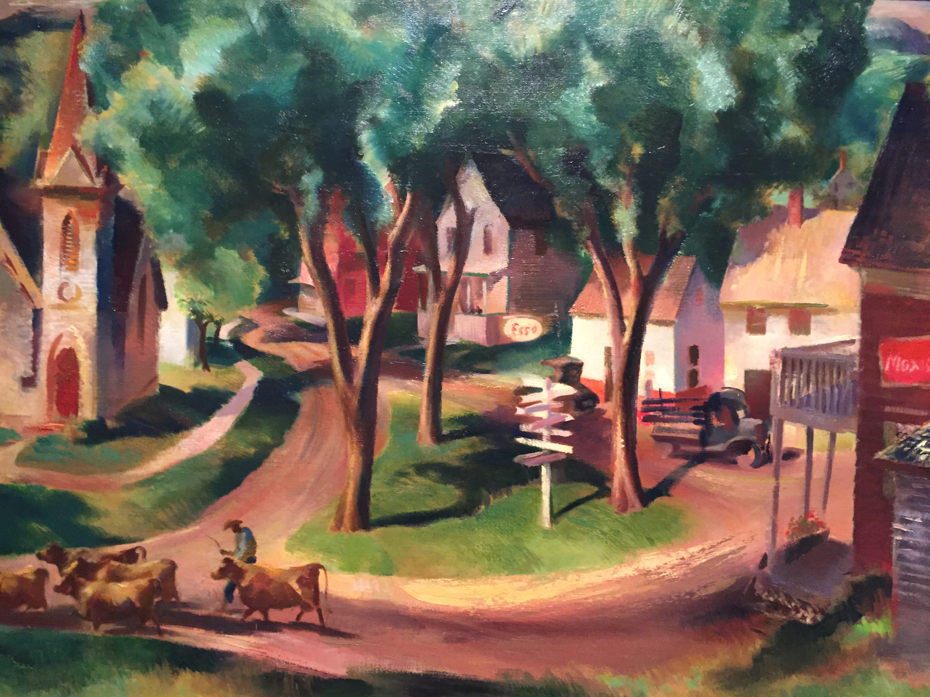 Esso a painting by barse miller