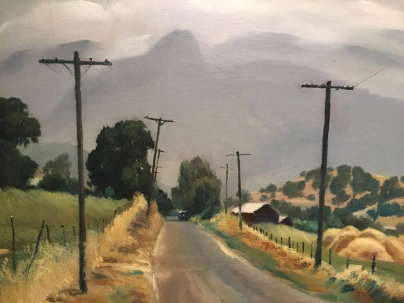 """Driving Along the Old Road"" a painting by Emil Kosa Jr."