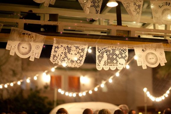Margaret Sosa, Ace Hotel Wedding, papel picado