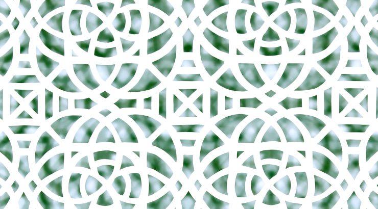 Reni Gower, Papercuts: White/malachite, Acyrlic on hand cut paper 86½