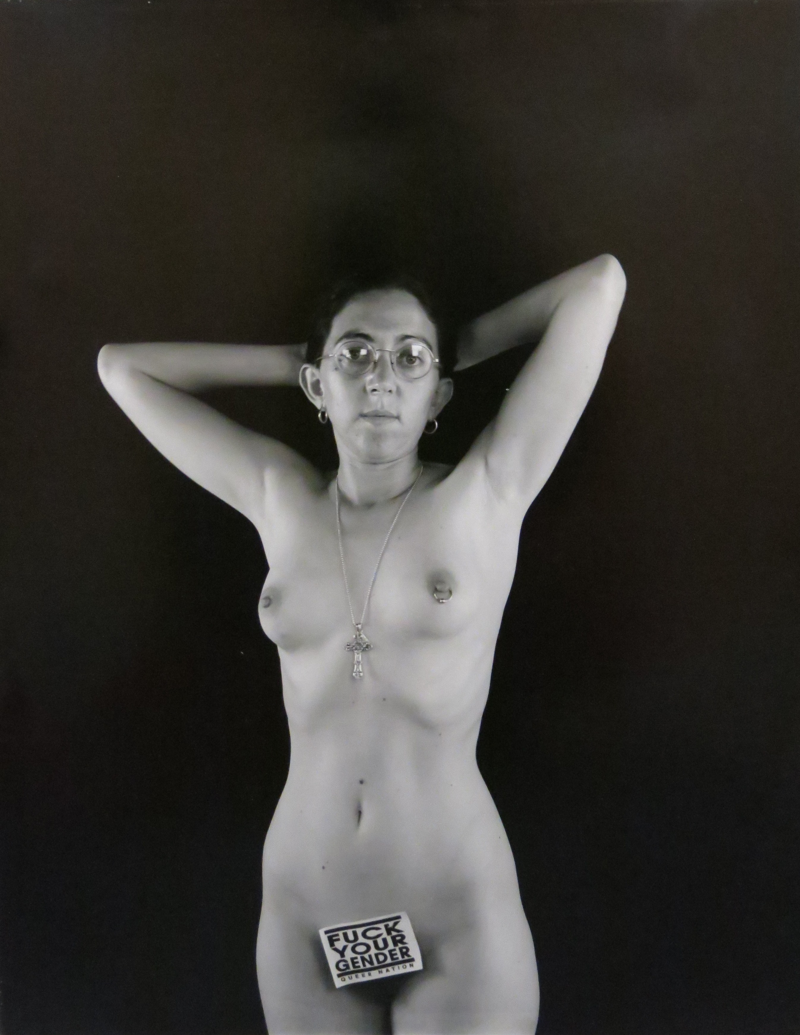 Laura Aguilar, Fuck Your Gender, Photography, 1991. Gift of Anne Ayres.