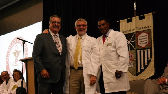 Dr. Brown, Dr. Struppa and Dean Jordan