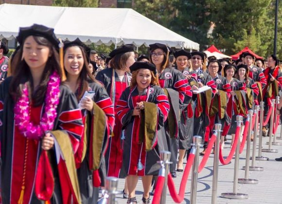 CUSP students at commencement