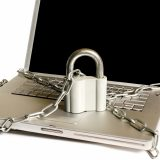 Laptop with Padlock