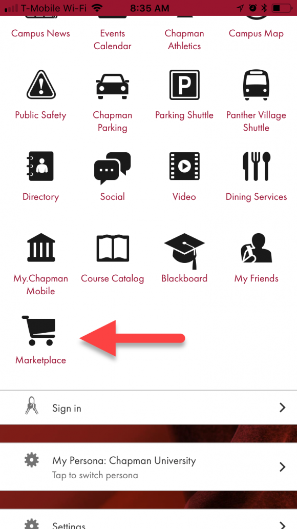 student marketplace app