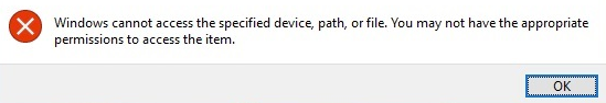 Cylance permissions error message