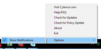 Disable Notifications from Cylance PC
