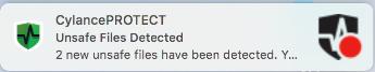 Mac Cylance blocked files message