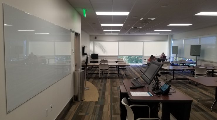 Photo of the new classroom setup at Rinker 95-215
