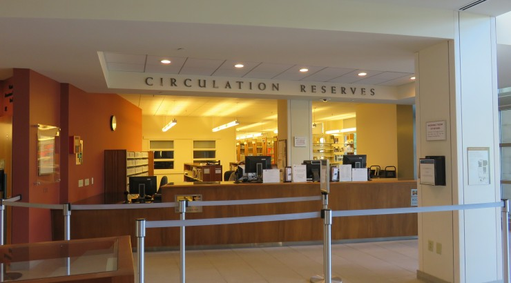 Circulation and reserves counter.