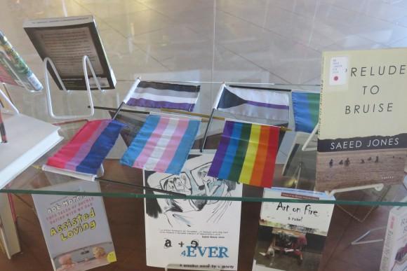 Books on display.