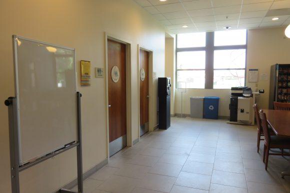 Two bathroom doors.