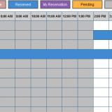 Screenshot of room booking process
