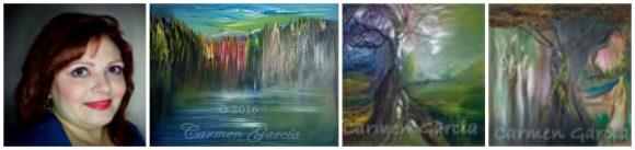 Carmen Garcia and her artwork
