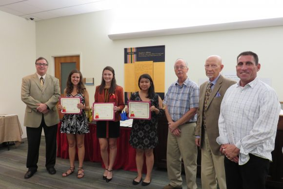 Ross Undergraduate Research Prize Winners