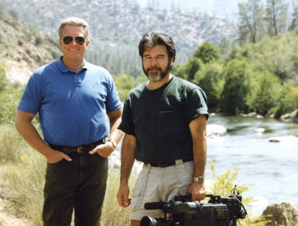 Luis Fuerte (right) with Huell Howser (left)