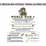 Flyer with a clipart image of a soldier and the text contained in the blog post