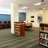 Interior of the Center for American War Letters Archives room on the lower level of the Leatherby Libraries