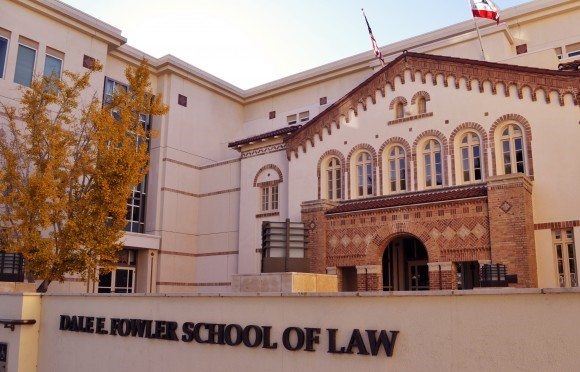 Exterior photograph of the law school