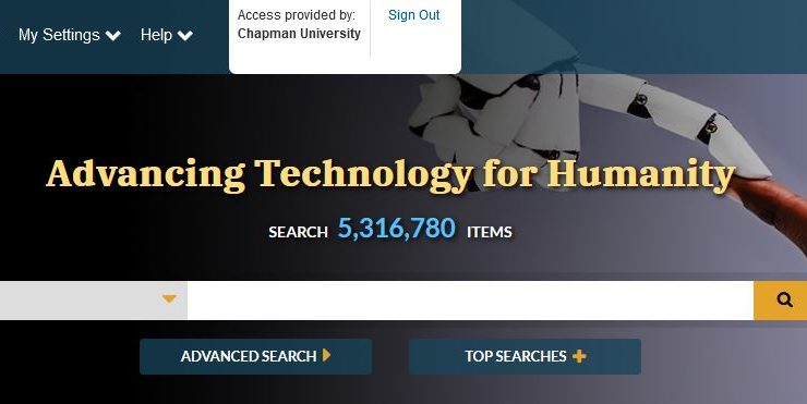 Header for the IEEE Electronic Library, which shows a search bar under the heading