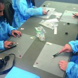 Students took part in hands-on activities that helped them understand some of a pharmacist's tasks.