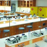 Interior of the chemistry lab that was donated to Orange Unified School District