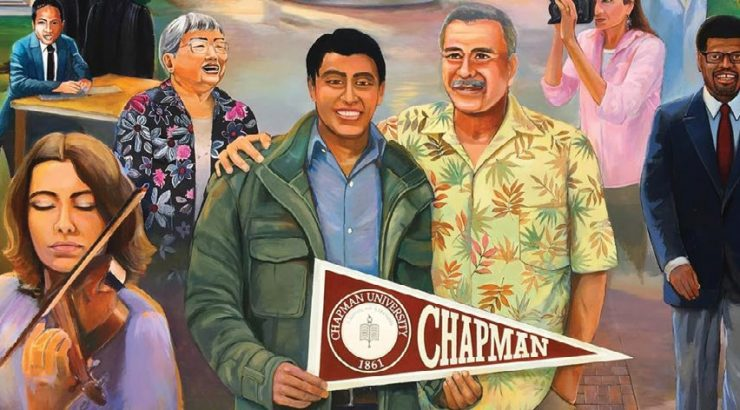 """Visions of Chapman: Education, Diversity and Community mural"