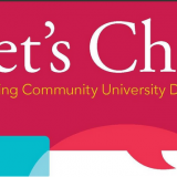 Banner for Let's Chat - community university dialogue