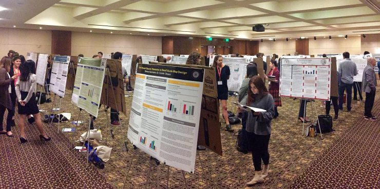 Research posters at the conference center