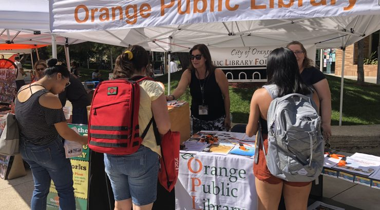 Orange Public Library Foundaiton helps at Merchant's Day