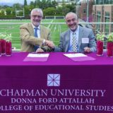 President Struppa and President John Hernandez from Santiago Canyon College