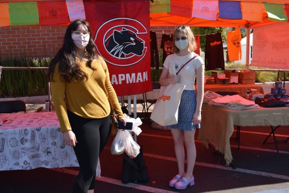 Chapman students at Farmer's Market