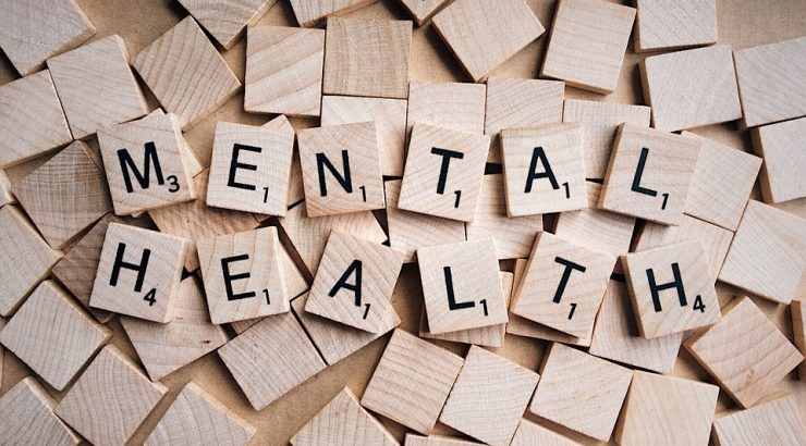 Wooden blocks that spell Mental Health