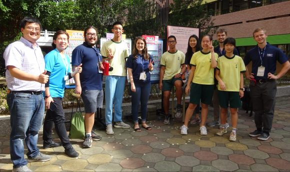 Taipei ETAs and Fulbright fellows at the school carnival