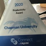 Chapman Receives Productivity Award for Research Adminstration
