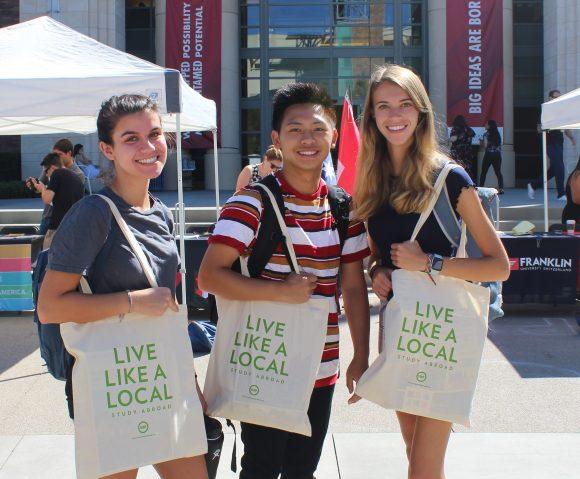 Students at fair