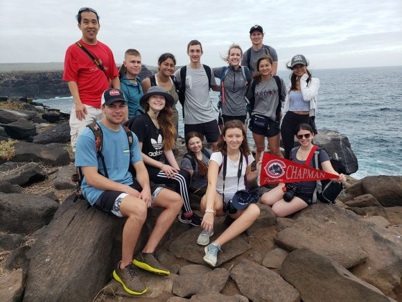 Students in the Galapagos