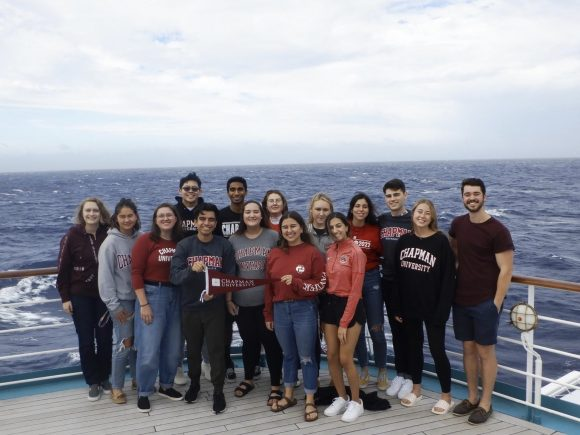 Chapman students on Semester at Sea ship