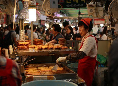 Street vendor in Japan