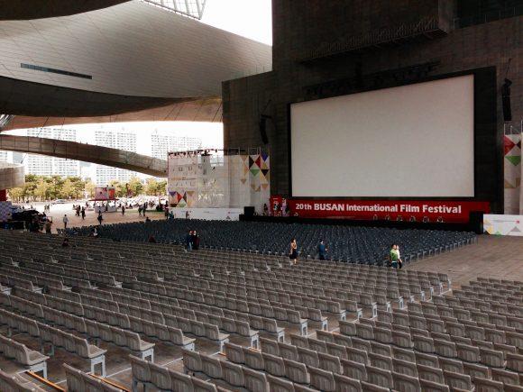 Empty theatre at Busan festival in Korea