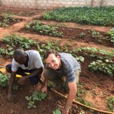Ben Field working in Senegal