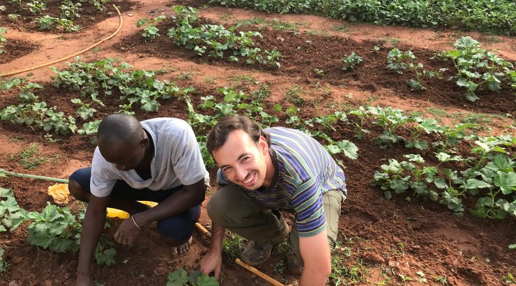 Ben Field working in Senegal