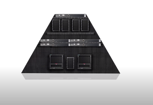 computer designed in trapezoid form