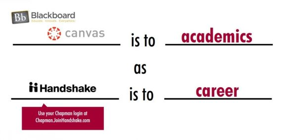 canvas is to academic as handshake is to career